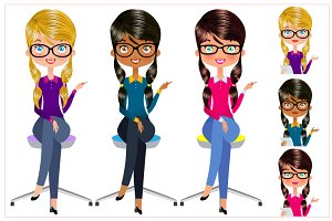Secretary Vector Set