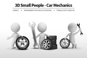 3D Small People - Car Mechanics