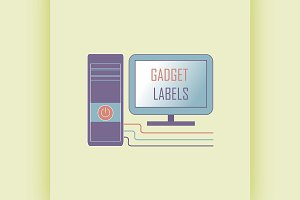 Electronic gadget label for design
