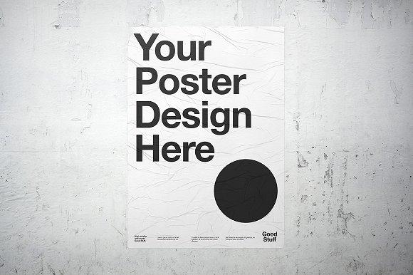 wheatpaste poster mockup product mockups creative market