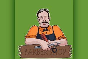 Hairstylist. Barber shop theme