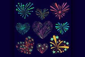 Festive patterned firework