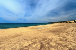 Sardinia - sandy beach in Piscinas