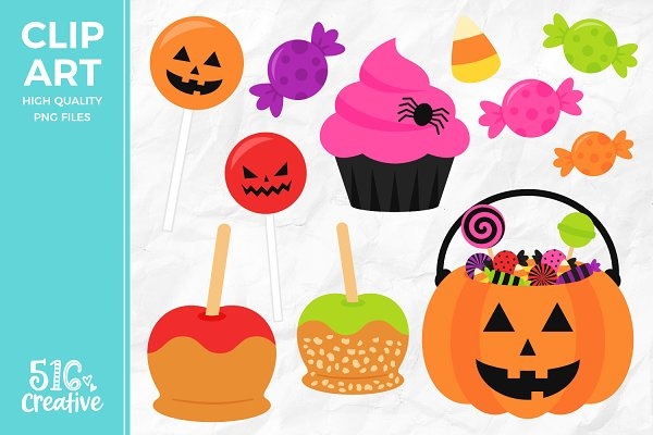 Caramel Apples Clipart Pre Designed Photoshop Graphics Creative Market