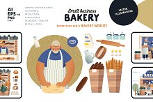 Bakery, Small business (vector) by  in Graphics