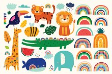 African animals baby collection