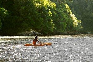 kayak  in  atlantic  ocean