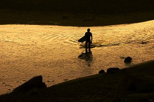 surfer men silhouette