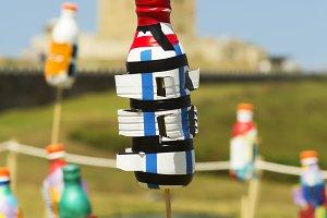 plastic bottles  Tower of Hercules