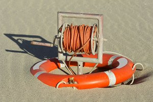 life ring buoy in beach