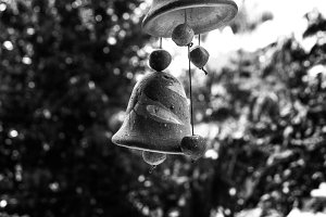 Outdoor Garden Bells Black and White