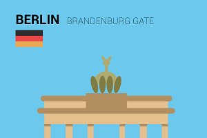 Brandenburg Gate, Berlin. Vector