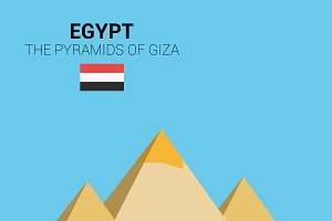 The Pyramids of Giza, Egypt. Vector