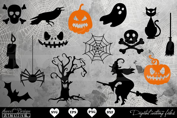 Halloween Svg Bundle Pre Designed Photoshop Graphics Creative Market
