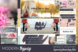 Modern Gypsy Website/Blog Kit