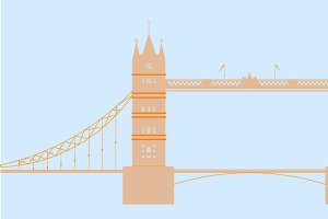 London England - Tower Bridge Vector