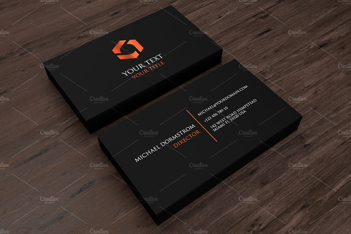 Minimal Business Card 02 ~ Business Card Templates ~ Creative Market