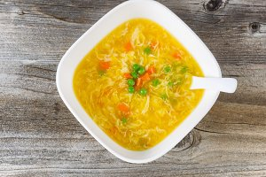 Egg and vegetable soup