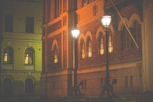 Vintage lamp posts
