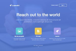 Launcht Landing Page
