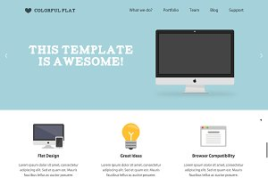 Colorful Flat Landing Page