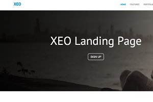 Xeo Landing Page