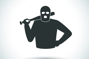 Criminal hoodlum icon