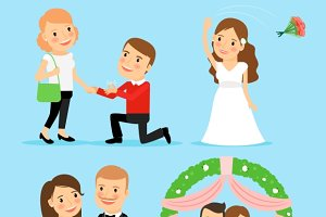 Wedding, proposal of marriage