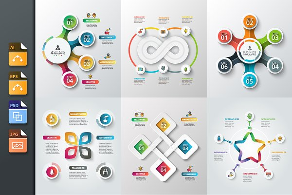 Diagrams for business infographic v…
