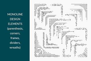 Vector line design elements' set