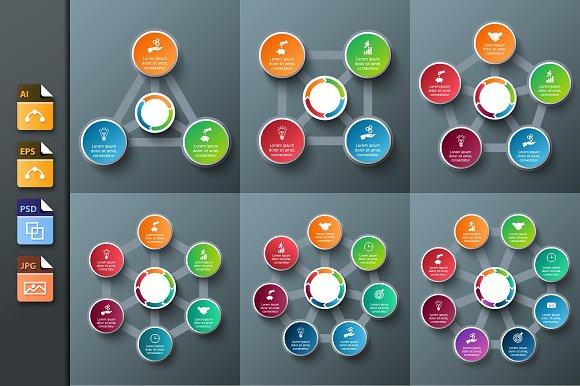 Infographics template set v.13 - Presentations