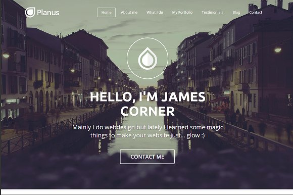 PlanusWP - One Page Wordpress Theme