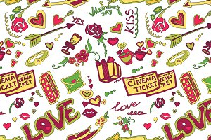 Colored Valentines day pattern