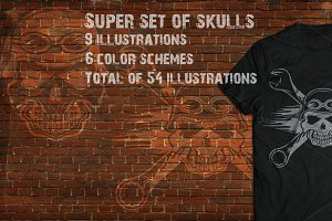Super set of skulls