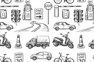 Seamless pattern of Traffic Laws