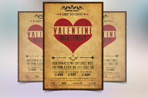 Vintage Valentine Party Flyer