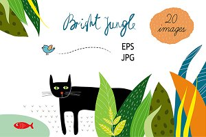 Colorful jungle 20 files EPS & JPG