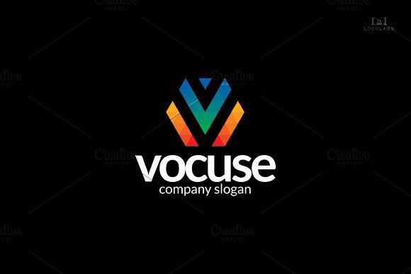Letter V Logo - Vocuse in Logo Templates - product preview 1