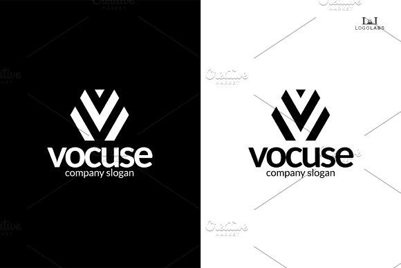 Letter V Logo - Vocuse in Logo Templates - product preview 2