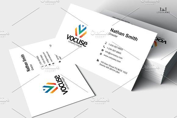 Letter V Logo - Vocuse in Logo Templates - product preview 3