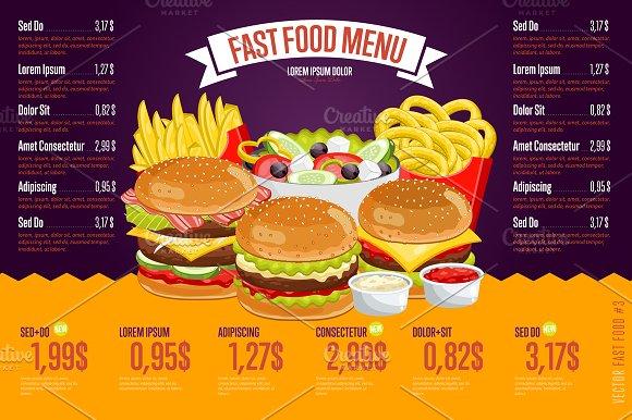 Fast Food Menu Template Creative Daddy