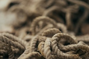 texture of old rope
