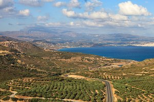 View over Crete coast