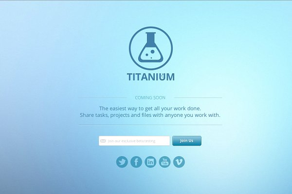 Titanium - Coming Soon Page (HTML5)