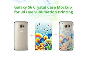 Galaxy S6 3d Crystal Case Mock-up