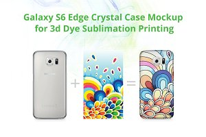 Galaxy S6 Edge 3d Crystal Case Mock-