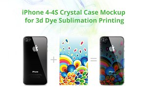 iPhone 4-4s 3d Crystal Case Mock-up