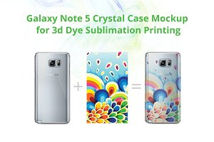 Galaxy Note 5 3d Crystal Case Mock-u