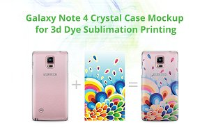 Galaxy Note 4 3d Crystal Case Mock-u