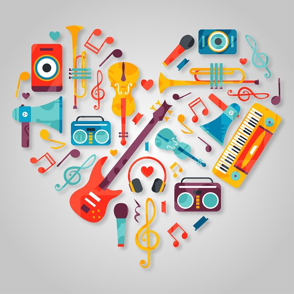 Musical Instruments Graphic Objects Creative Market